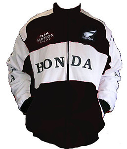Honda Racing Jacket Black and White
