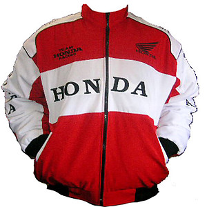 Honda Racing Jacket Red and White