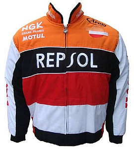 Honda Repsol F1 Racing Jacket Orange,Black,Red and White