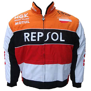 Honda Repsol Racing Jacket Orange and White