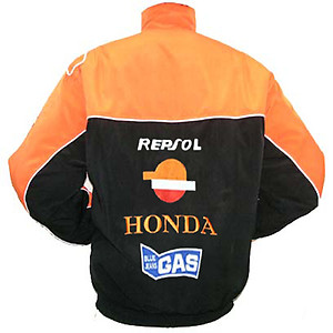 Honda Repsol Snap-on Racing Jacket Black and Orange