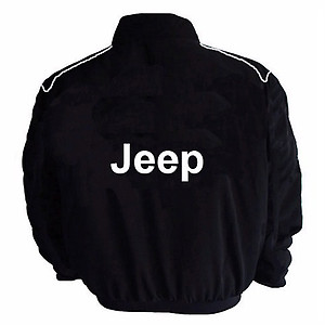 Jeep Racing Jacket Black with Piping