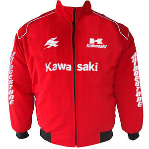 Kawasaki KX Motorcycle Jacket Red
