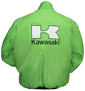 Kawasaki Motorcycle Jacket Light Green