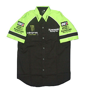 Kawasaki Crew Shirt Light Green and Black