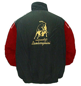 Lamborghini Racing Jacket Black and Red