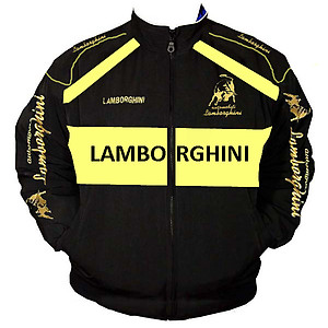 Lamborghini Racing Jacket Black and Yellow with piping