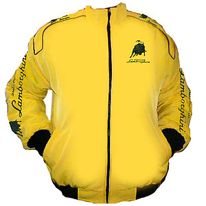 Lamborghini Automobili Racing Jacket Yellow