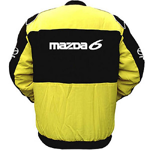 Mazda 6 Racing Jacket Yellow and Black