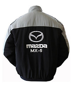 Mazda MX-5 Racing Jacket Gray and Black