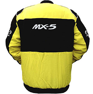 Mazda MX-5 Racing Jacket Yellow and Black