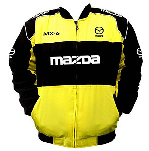 Mazda MX-6 Racing Jacket Yellow and Black