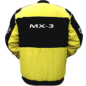 Mazda MX-3 Racing Jacket Yellow and Black