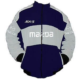 Mazda MX-5 Miata Racing Jacket Dark Blue and Light Gray