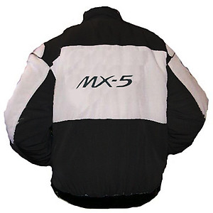 Mazda MX-5 Racing Jacket Black and White