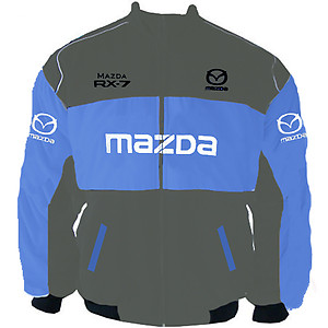 Mazda RX-7 Racing Jacket Dark Gray and Royal Blue