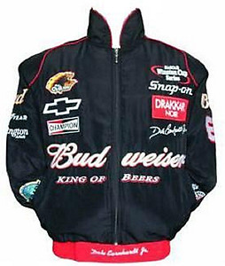 Nascar Dale Earnhardt Jr Racing Jacket Black with Red