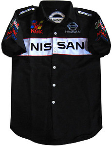 Nissan Racing Shirt Black with white