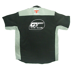 Nissan GTT Skyline Racing Shirt Black and Light Gray