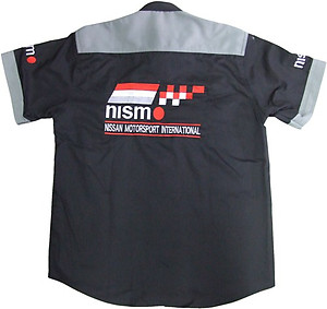 Nissan Nismo Racing Shirt Black with Light Gray Trim