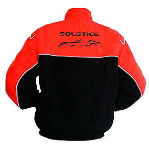 Pontiac Solstice Racing Jacket Black and Red