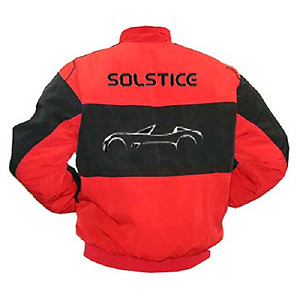 Pontiac Solstice Racing Jacket Black with Red