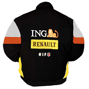 Renault F1 Racing Jacket Black, Orange and White
