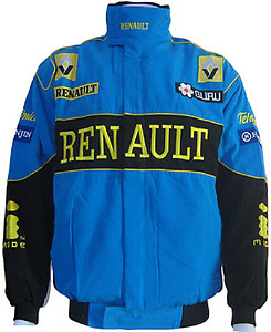 Renault F1 Racing Jacket Blue and Black