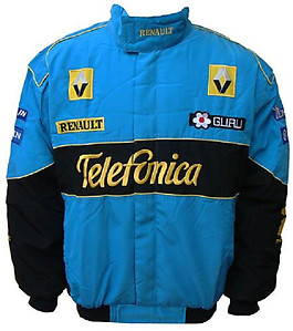 Renault Telefonica F1 Racing Jacket Blue and Black