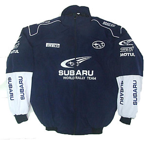 Subaru Jacket Dark Blue, White