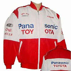 Toyota Panasonic F1 Racing Jacket White and Red