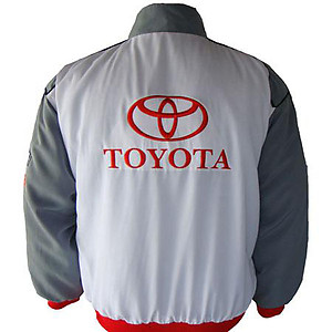 Toyota Panasonic Racing Jacket White and Gray