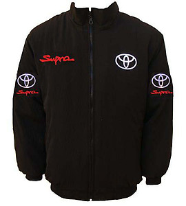 Toyota Supra Racing Jacket Black with Red Piping