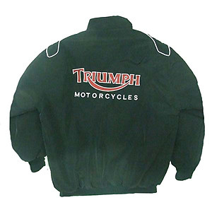 Triumph Motorcycle Jacket Black with Red Embroidery
