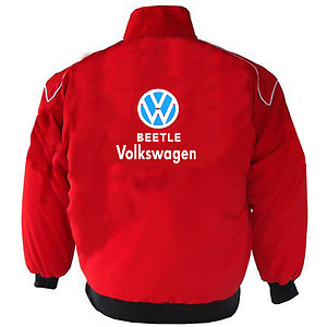 VW Volkswagen Beetle Racing Jacket Red