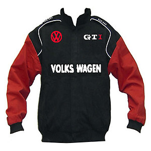 VW Volkswagen GTI Racing Jacket Black and Red