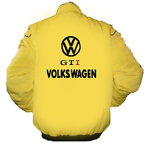VW Volkswagen GTI Racing Jacket Yellow