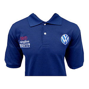VW Volkswagen Racing Polo Shirt Navy Blue