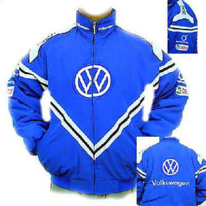 VW Volkswagen Racing Jacket Royal Blue with White
