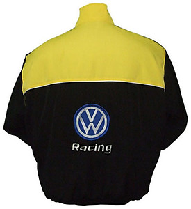 VW Volkswagen Racing Jacket Yellow and Black