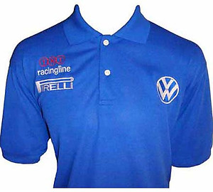 VW Volkswagen Racing Polo Shirt Blue
