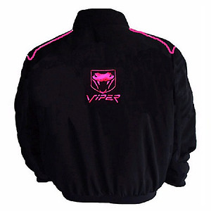 Viper Racing Jacket with Pink Piping