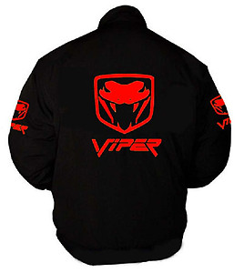 Viper Fangs Racing Jacket Black with Red Embroidery