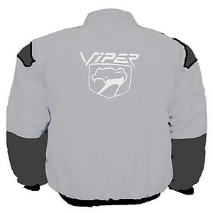 Viper Fangs Racing Jacket Light Gray and Dark Gray