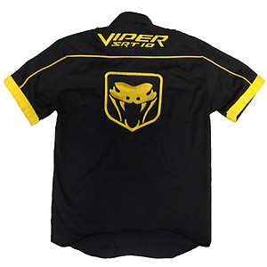 Viper SRT 10 Crew Shirt Black and Yellow