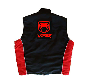 Dodge Viper Fangs Vest Black and Red