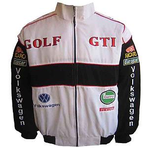 VW Volkswagen Golf GTI Racing Jacket White and Black