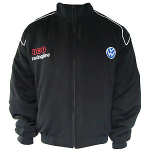 VW Volkswagen Racing Jacket Black with Blue Embroidery