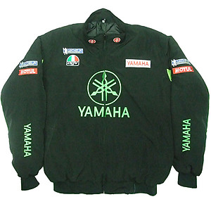 Yamaha Motorcycle Jacket Black and Light Green