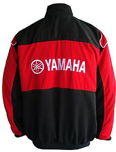 Yamaha R6 Motorcycle Jacket Black and Red